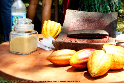 grinding cocoa beans